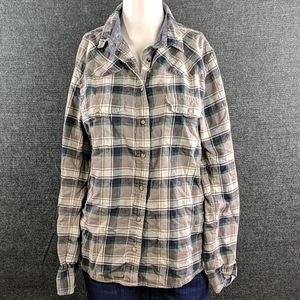 "Jach's Girlfriend ""Bea"" Green & Gray Plaid Shirt"